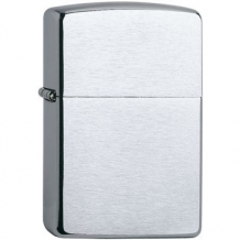 Zippo regular chroom brush finish inclusief graveren