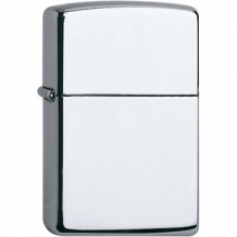 Zippo regular chroom high polish inclusief graveren